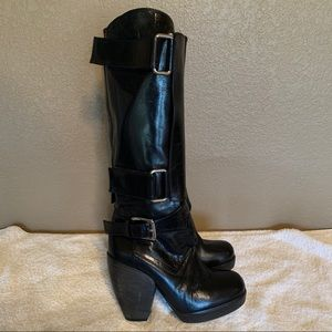 Phi Leather Boots Size 38 US 8